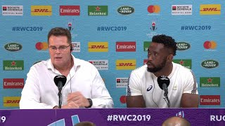 Erasmus and Kolisi on reaching semi-final at Rugby World Cup 2019