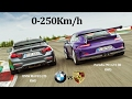 BATTLE BMW Vs PORSCHE M4 F82 GTS 500Hp Vs 991 GT3 RS 500Hp RWD Vs RWD