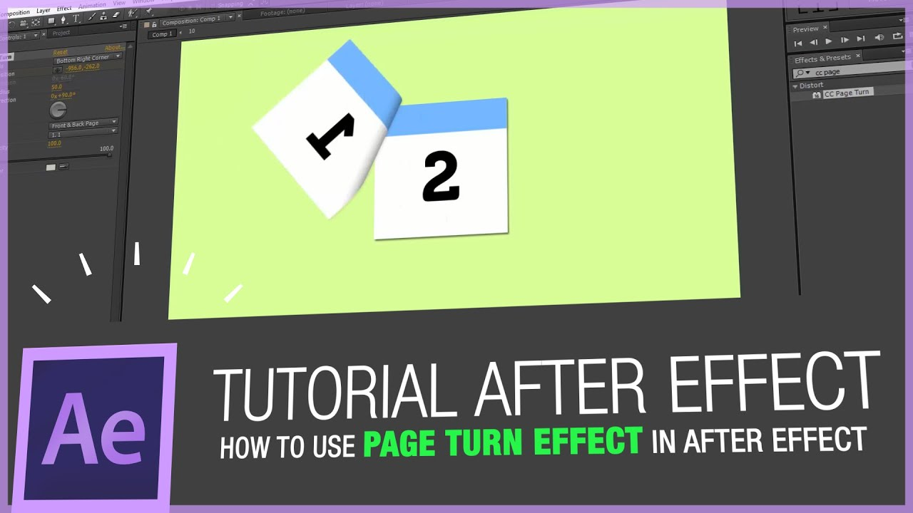 after effects tutorial how to use page turn effect in doovi. Black Bedroom Furniture Sets. Home Design Ideas