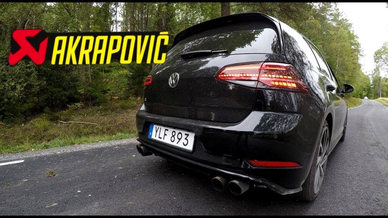 2017 vw golf r 310hp akrapovic exhaust sound test hd. Black Bedroom Furniture Sets. Home Design Ideas