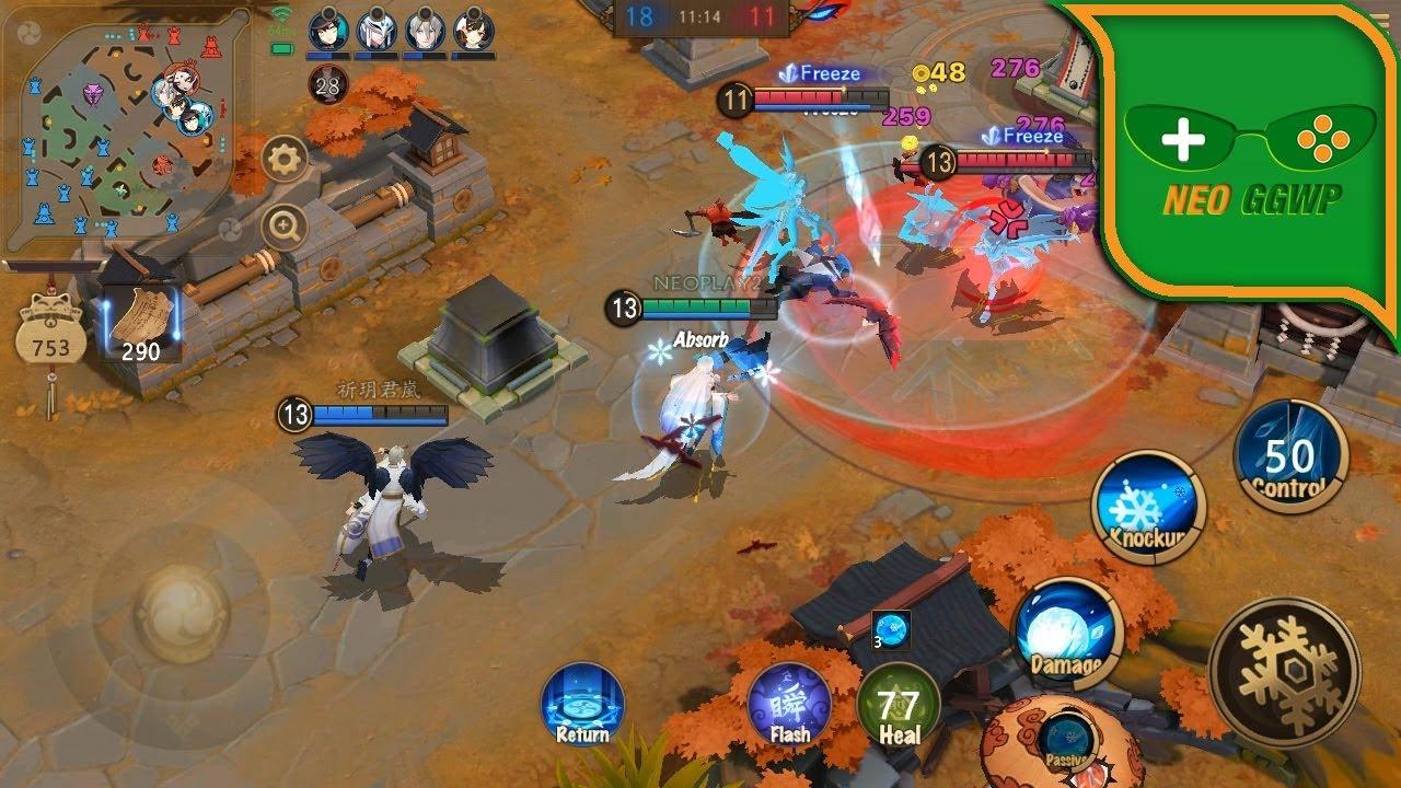 Onmyoji Arena English Android Ios Apk Moba Gameplay