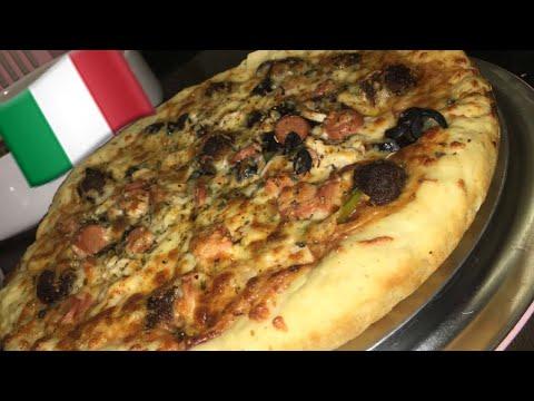 صورة  طريقة عمل البيتزا طريقة عمل البيتزا الإيطالية بعجينة سهلة ومضمونة italian pizza 🍕 طريقة عمل البيتزا من يوتيوب