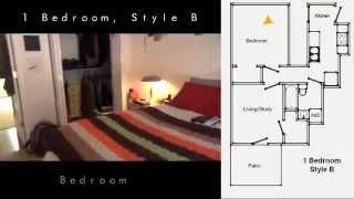 Walk Through 1 Bedroom Floor Plan B