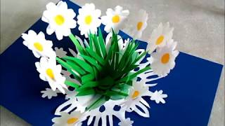 DIY 3D Открытки с цветами МК по изготовлению бумажных открыток своими руками