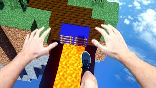 VR Minecraft Parkour Was A Really Bad Idea...