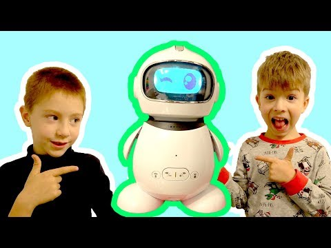 Funny Toy Robot for Kids / Unboxing and Play / Learn English with Idol