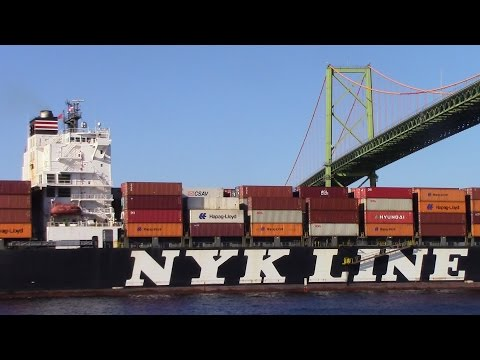 Container Ship NYK DIANA Outbound - Port of Halifax (April 27, 2016)