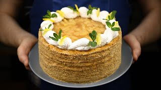 Торт Медовик с грушевой начинкой так вкусно Торт тает во рту