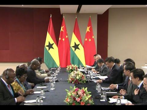 Xi Meets Presidents of Togo, Guinea, Djibouti, Ghana, Angola