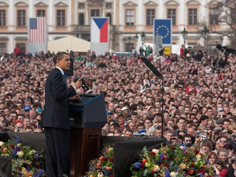 The President in Prague
