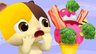 Do You Like Broccoli Ice Cream? | Colors Song | for kids | Kids Songs | Nursery Rhymes | BabyBus