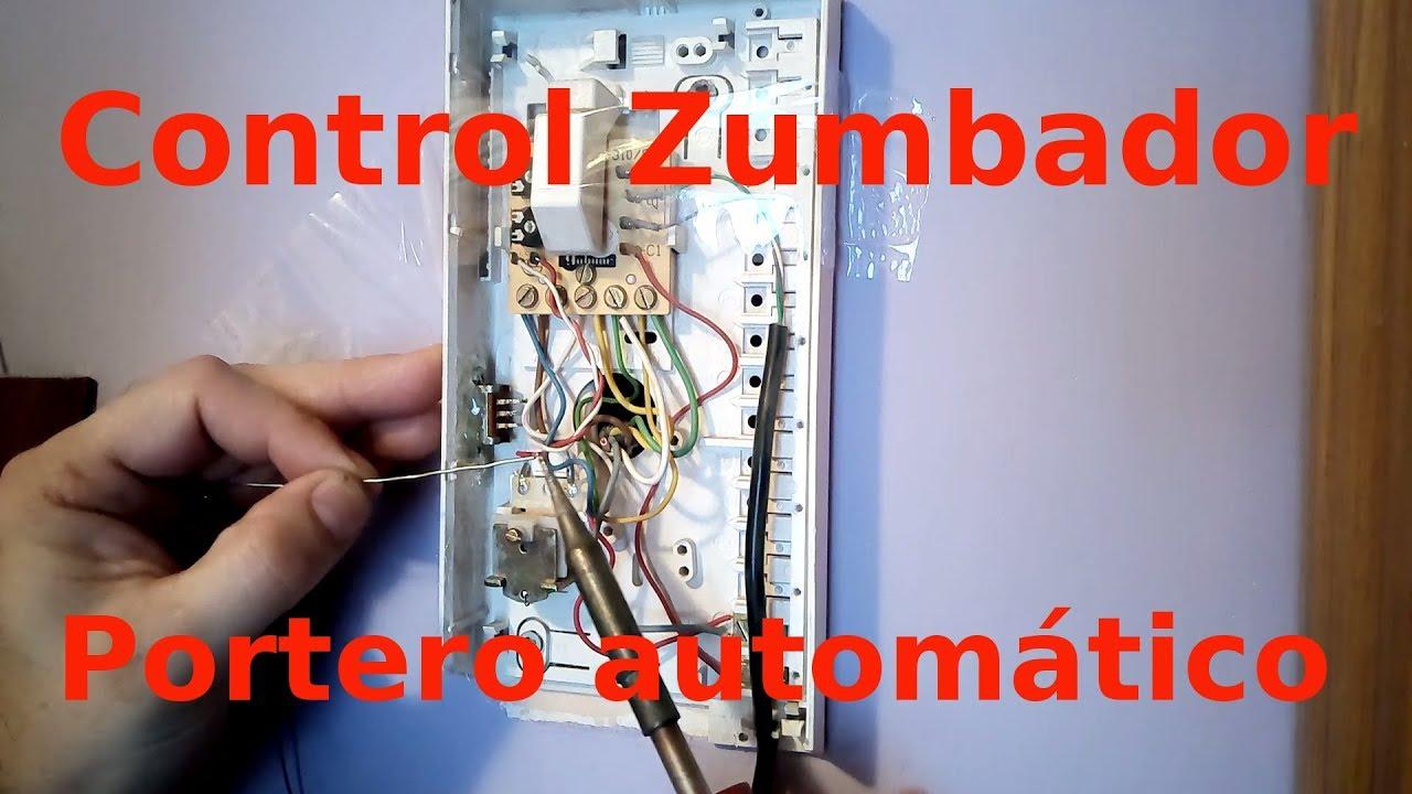 Control de timbre o zumbador de portero autom tico for Telefonillo portero automatico universal