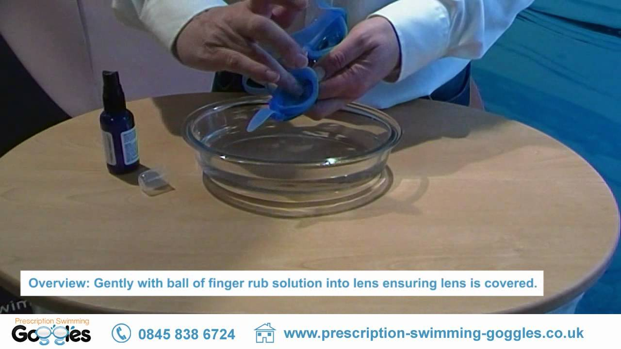Anti-fog Solution Demonstration. Prescription Swimming Goggles e04ea0b8b9408