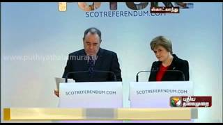 Alex Salmond Submitted White Paper Report Over Scotland Independence