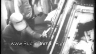 NASA Gemini 10 Space Mission 1966 newsreel archival footage   www.PublicDomainFootage.com