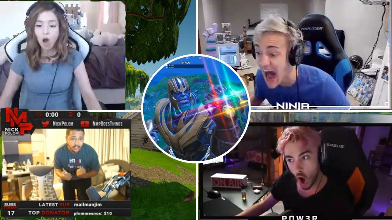 Streamers Play and React To Thanos in Fortnite