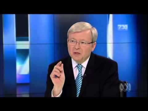 Kevin Rudd on 7:30: Murdoch and the NBN
