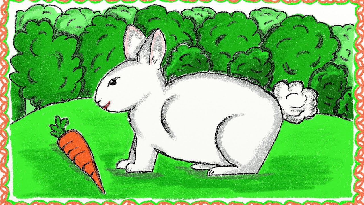 Drawing a simple rabbit | How to draw a rabbit | Drawing ...