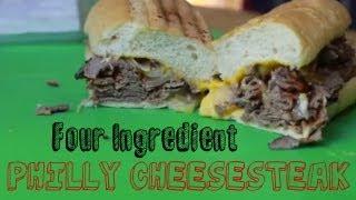 Quick Philly Cheesesteak (4 Ingredient *Munchies*)