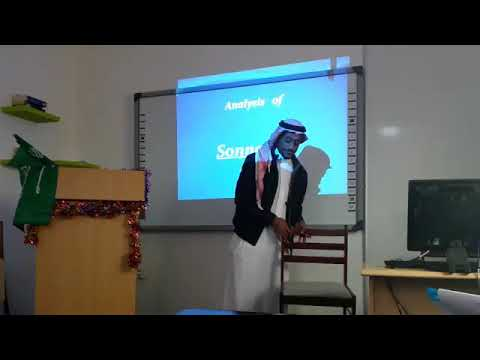 A presentation about Sonnet 18 (poetry) when I was still a universal student)