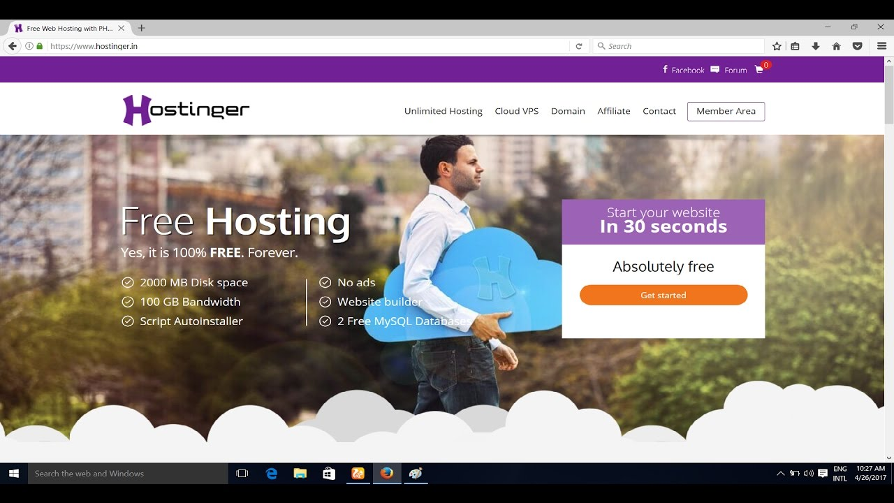 how to get free web hosting and domain names forever