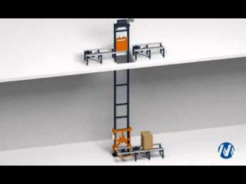 Pallet Elevator Pallet Lift 3d Mecalux Uk Youtube