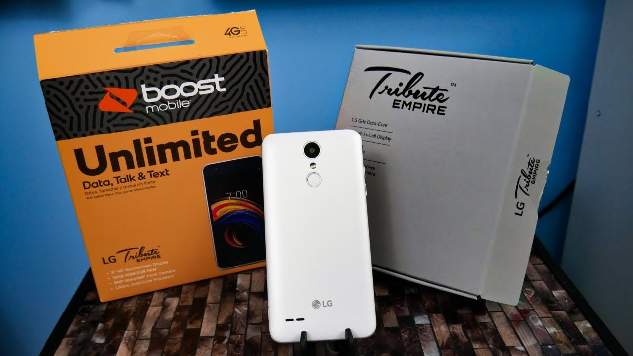 LG Tribute Empire Detailed Unboxing and First Boot Up// Boost Mobile (HD)
