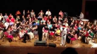 "Ocoee Middle School 6th Grade Band: ""Blue Christmas"""