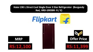 Haier 190 L Direct Cool Single Door 3 Star Refrigerator (Burgundy Red, HRD-1903BR- R / E)