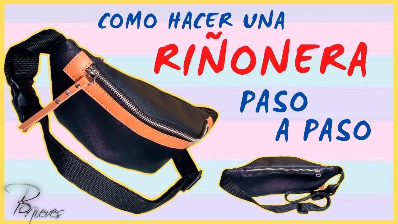 COMO HACER UNA RIÑONERA FACIL PASO A PASO // CANGURO // CON MOLDES // bnieves 💞