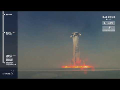 Watch Blue Origin's New Shepard Rocket Launch And Land - NS-12 Mission