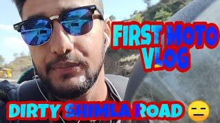 First Moto Vlog - Shimla Road  trucks vs Bike Riders 😓😓