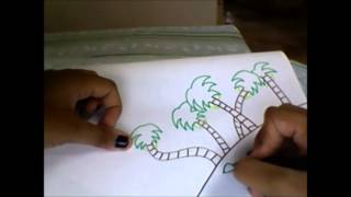 how to draw an easy and beautiful scenery