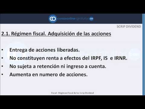 Scrip Dividend y su régimen fiscal