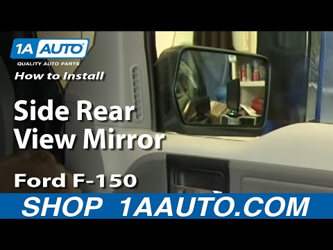 How To Replace Side Rear View Mirror 04-08 Ford F-150