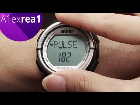 Skmei 1058 умные часы всего за 15$ шагомер, подсчет сердечного ритма, счетчик калорий