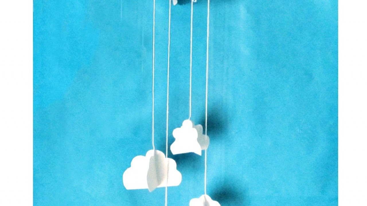 how to make a cute cloud wall decoration diy home tutorial