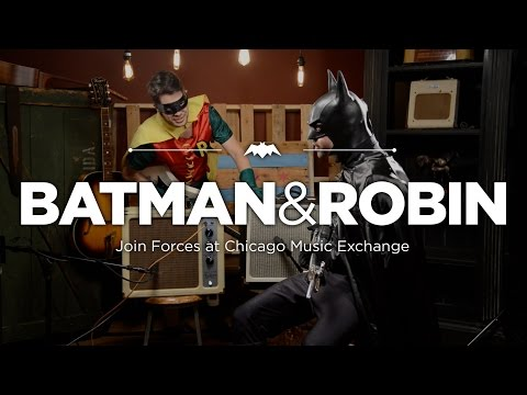 Batman & Robin Join Forces at Chicago Music Exchange