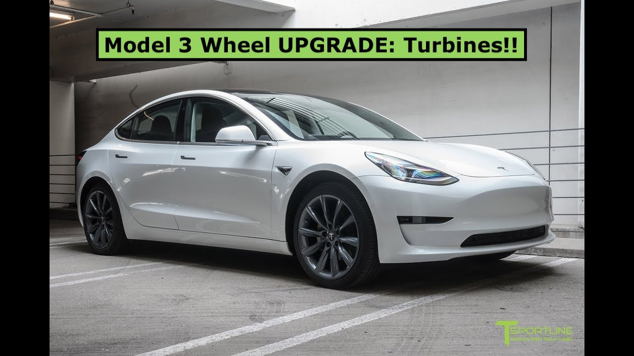 Tesla Model 3 Wheel Upgrade - Exchanging Sport Wheels for Turbines