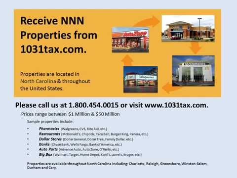 View NNN property in North Carolina  NNN triple net lease property for investors & 1031 exchange