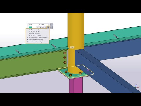 Tekla Structures 2021 - Improvements to the Contextual Toolbar