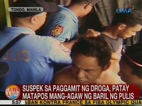 UB: Suspek sa paggamit ng droga, patay matapos mang-agaw ng baril ng pulis sa Tondo, Manila