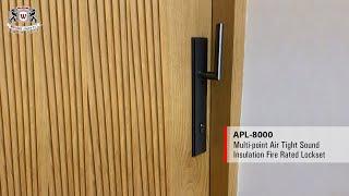 WEIDER - APL-8000 Air Tight Sound Insulation Multipoint Lock