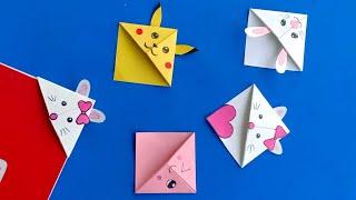 Diy Kawaii Bookmarks //easy Origami Bookmark Corner - How To Make A Corner Bookmark Diy