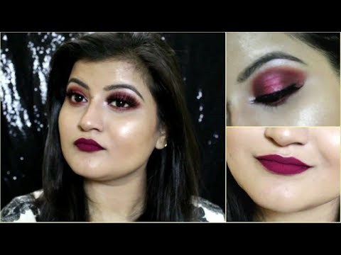 WINTER/FALL GLAM MAKEUP TUTORIAL | CRANBERRY EYES & LIPS