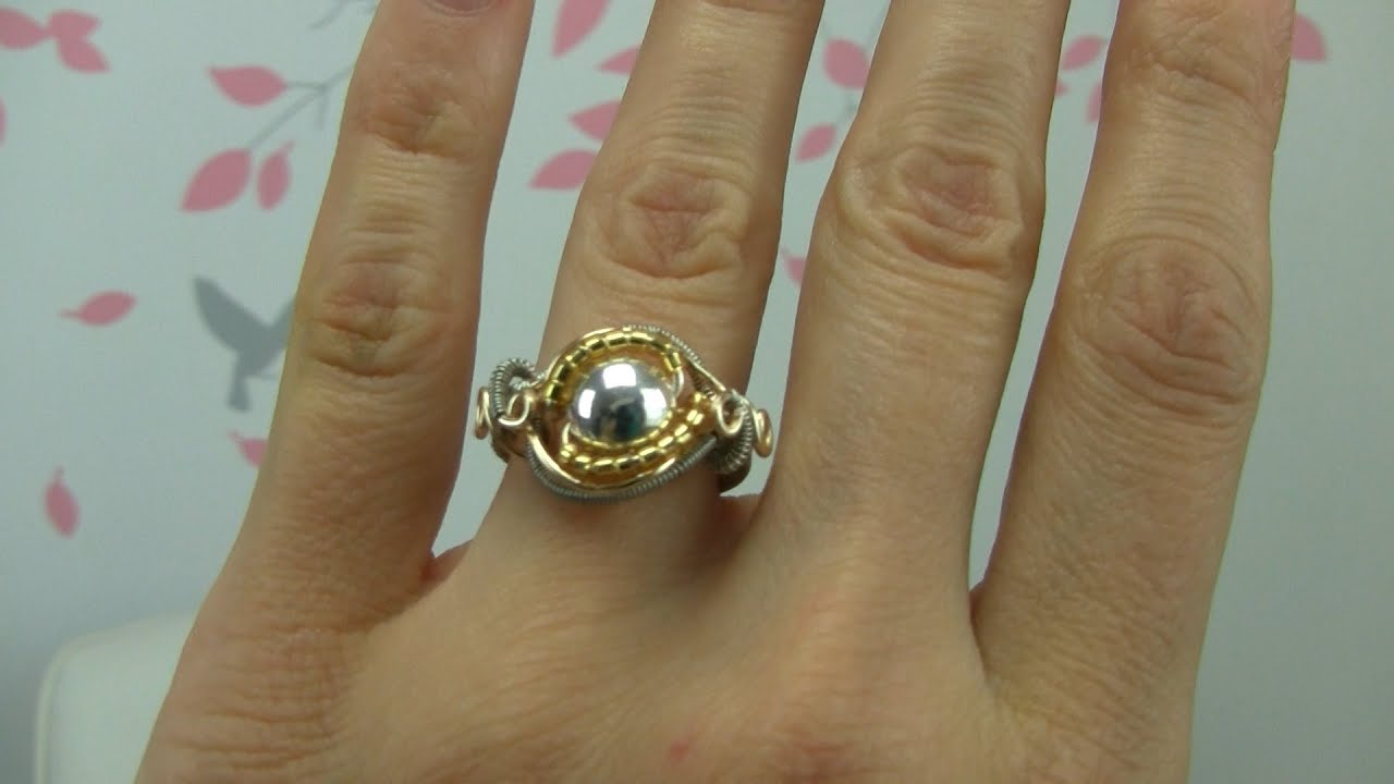How To Wire Wrap A Bead Ring