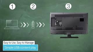 Digital menu boards or smart Tv