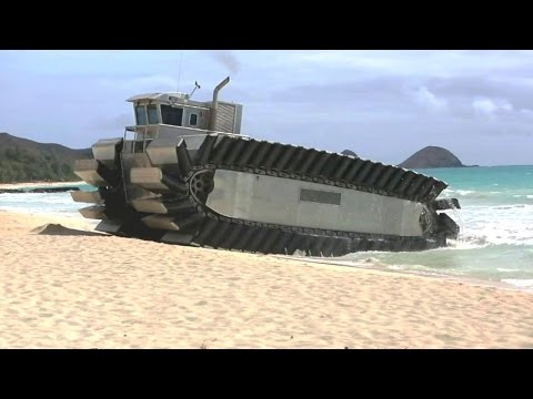US Marine Corps - Ultra Heavy-Lift Amphibious Connector (UHAC) Testing At RIMPAC 2014 [720p]