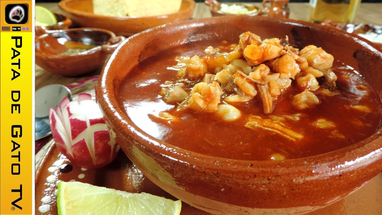 Pozole rojo paso a paso / Red pozole step by step - YouTube