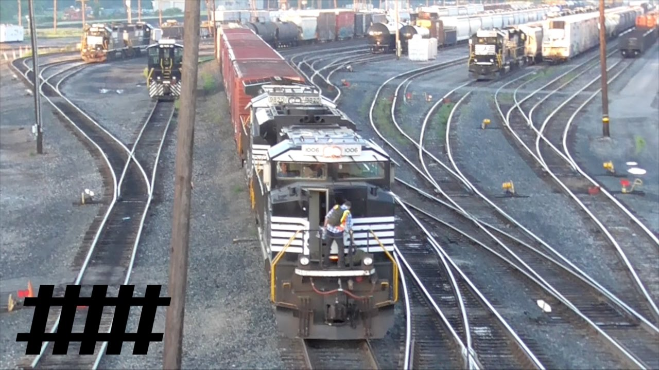 dawn at rose yard with ns helper engines parade and